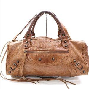 Auth BALENCIAGA Large Shoulder Bag